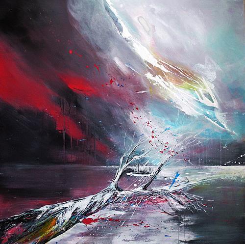 Ute Kleist, Ich werde erwartet, Glauben, Bewegung, Expressionismus, Abstrakter Expressionismus