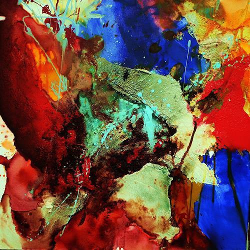Ute Kleist, Flieg mit mir I, Bewegung, Gefühle, Expressionismus, Abstrakter Expressionismus