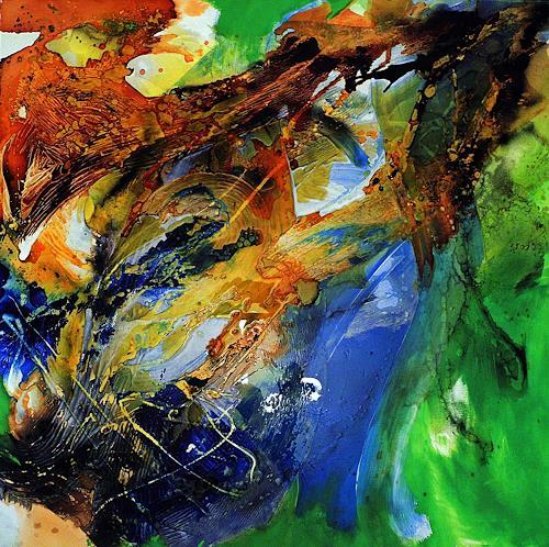 Ute Kleist, Erwachen, Bewegung, Gefühle, Expressionismus, Abstrakter Expressionismus