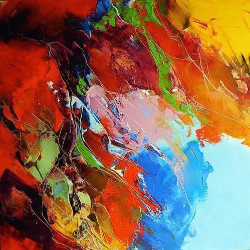 Ute Kleist, Wind im Haar, Bewegung, Abstraktes, Expressionismus, Abstrakter Expressionismus