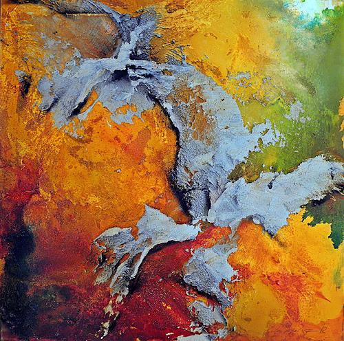 Ute Kleist, Summerfeeling I, Landschaft, Abstraktes, Expressionismus