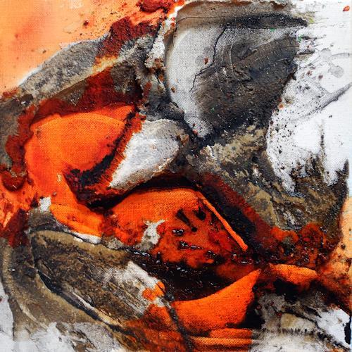Ute Kleist, Unter nacktem Fels I, Abstraktes, Natur, Expressionismus