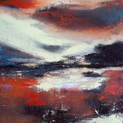 Ute Kleist, still und unberührt, Landschaft, Romantik, Expressionismus