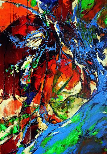 Ute Kleist, Träumen unterm Lieblingsbaum II, Abstraktes, Gefühle, Expressionismus, Abstrakter Expressionismus