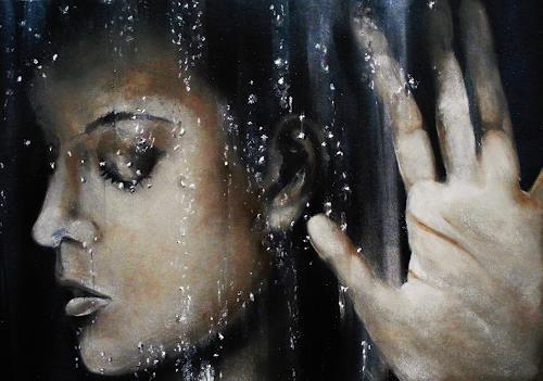 Ute Kleist, Am Fenster, Menschen: Frau, Situationen, Gegenwartskunst, Expressionismus