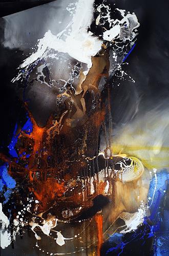 Ute Kleist, Shunyata, Bewegung, Glauben, Abstrakter Expressionismus