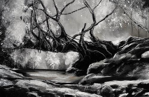 Ute Kleist, Überbrücken(d), Natur, Poesie, Gegenwartskunst, Abstrakter Expressionismus