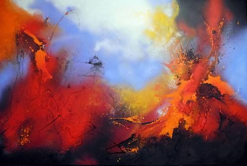 Ute Kleist, Mongibello, Natur, Bewegung, Abstrakter Expressionismus