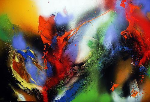 Ute Kleist, Durchreise, Bewegung, Gefühle, Abstrakter Expressionismus, Expressionismus