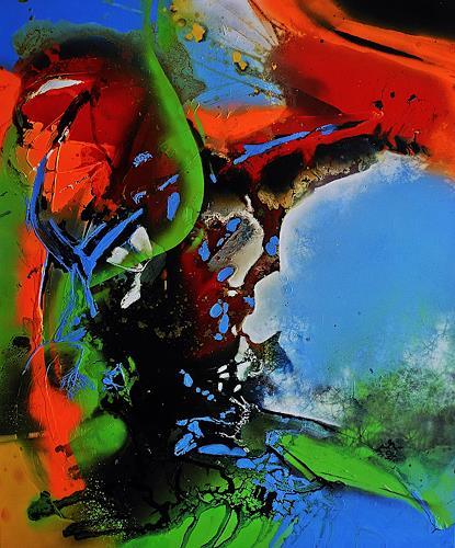 Ute Kleist, LEBEN III, Abstraktes, Bewegung, Expressionismus, Abstrakter Expressionismus