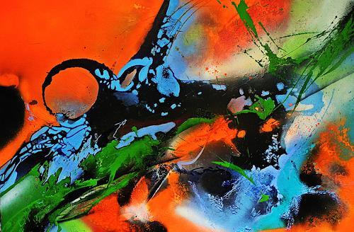 Ute Kleist, FREISCHWIMMER, Gefühle, Abstraktes, Expressionismus, Abstrakter Expressionismus