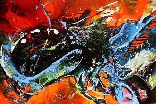 Ute Kleist, MIT DEM STROM, Abstraktes, Bewegung, Expressionismus