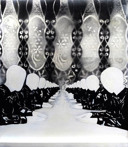 Ute Kleist, Komm zu Tisch - Vorderseite, Gesellschaft, Gefühle, Symbolismus, Abstrakter Expressionismus