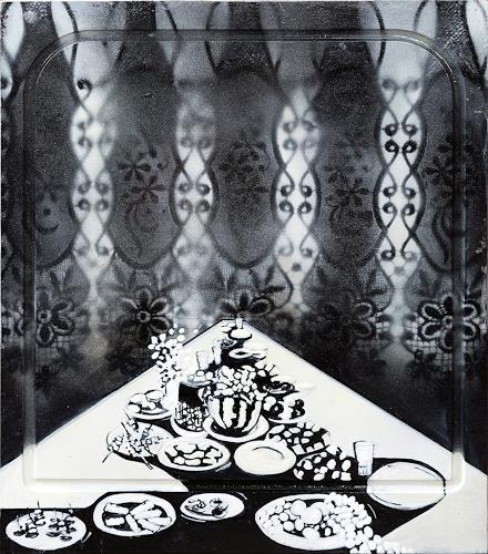 Ute Kleist, Komm zu Tisch - Rückseite, Gesellschaft, Essen, Symbolismus, Abstrakter Expressionismus