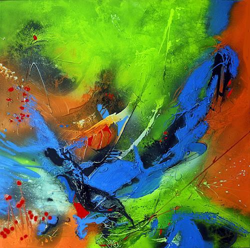 Ute Kleist, NESTWÄRME, Natur, Gefühle, Expressionismus, Abstrakter Expressionismus