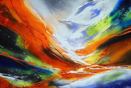 Ute Kleist, Dem Fluss folgen, Abstraktes, Gefühle, Expressionismus