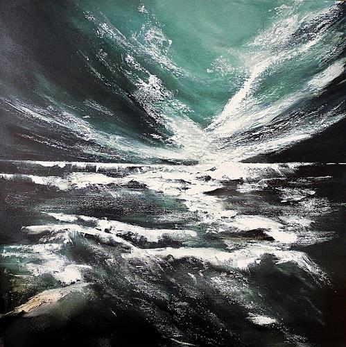 Ute Kleist, MEE(H)R ALS ALLES, Landschaft: See/Meer, Glauben, Expressionismus, Abstrakter Expressionismus