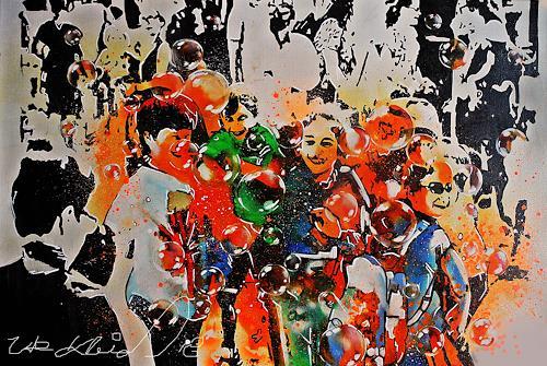 Ute Kleist, DAS LACHEN UNSERER KINDER, Menschen: Kinder, Gefühle, Expressionismus, Abstrakter Expressionismus