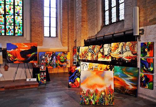 Ute Kleist, Kunsttage St.-Nikolaikirche zu Rostock, Gefühle, Abstraktes, Expressionismus