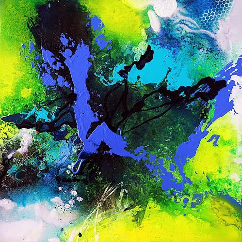 Ute Kleist, Das Erwachende IV, Natur, Gefühle, Expressionismus, Abstrakter Expressionismus
