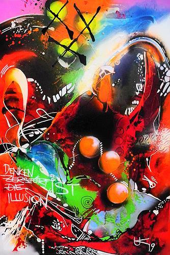 Ute Kleist, Der Suchende, Menschen, Symbol, Expressionismus, Abstrakter Expressionismus