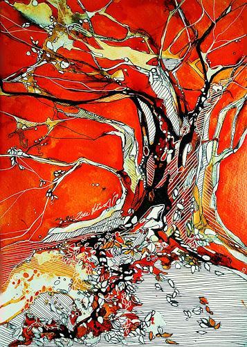 Ute Kleist, Öffne dein Herz, Natur, Poesie, Expressionismus, Abstrakter Expressionismus