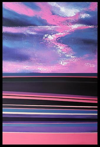 Ute Kleist, Von der Fläche zur Landschaft I+II, Landschaft, Abstraktes, Expressionismus