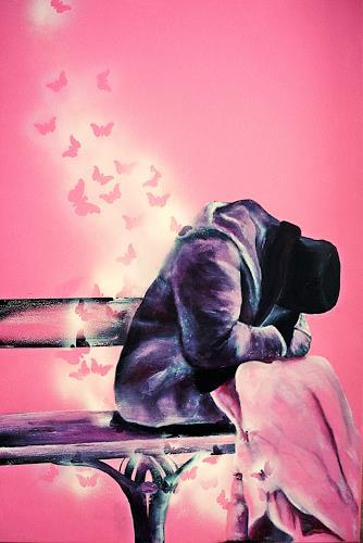 Ute Kleist, ICH WÜNSCHTE......., Menschen, Gefühle, expressiver Realismus, Expressionismus