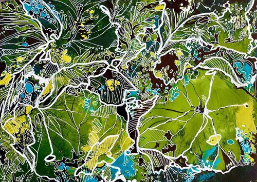 Ute Kleist, NUR EIN BLATT, Pflanzen, Natur, Expressionismus