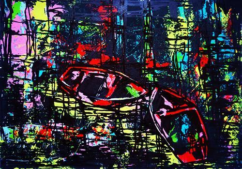 Ute Kleist, VERTRAUEN, Gefühle, Poesie, Expressionismus, Abstrakter Expressionismus
