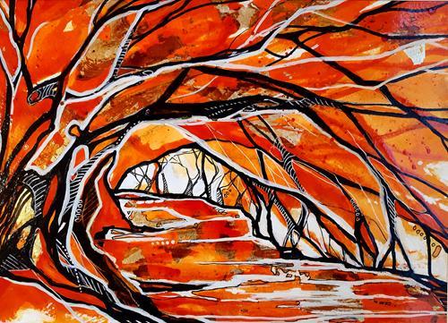 Ute Kleist, MEHR ALS GENUG II, Landschaft, Natur, Expressionismus, Abstrakter Expressionismus
