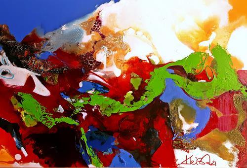 Ute Kleist, VON DER LUST (SICH) ZU WANDELN, Abstraktes, Gefühle, Expressionismus