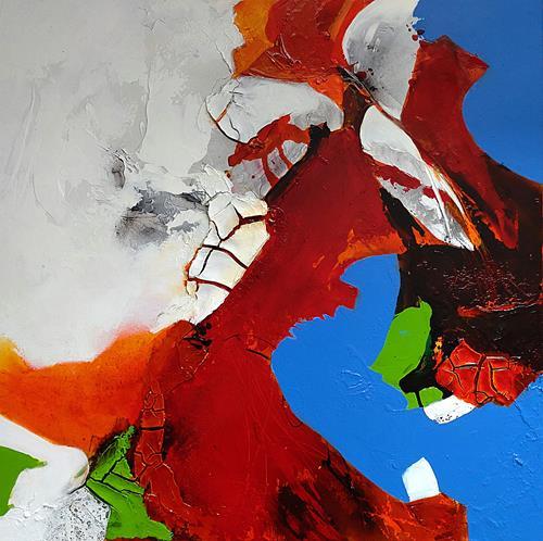 Ute Kleist, HERZBLUT, Abstraktes, Gefühle, Expressionismus, Abstrakter Expressionismus