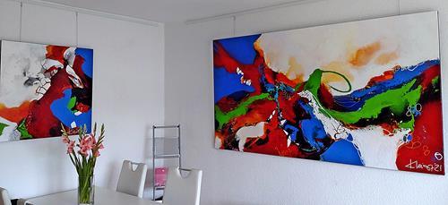 Ute Kleist, HERZBLUT & ES GEHT WEITER, Abstraktes, Gefühle, Expressionismus