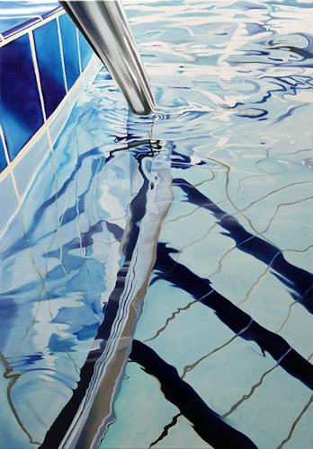 Alex Krull, o.T. (Schwimmbadtreppe 2), Diverses, Realismus, Expressionismus