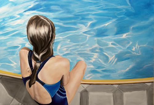 Alex Krull, o.T. (blauer Badeanzug), Menschen: Kinder, Diverse Menschen, Realismus, Expressionismus