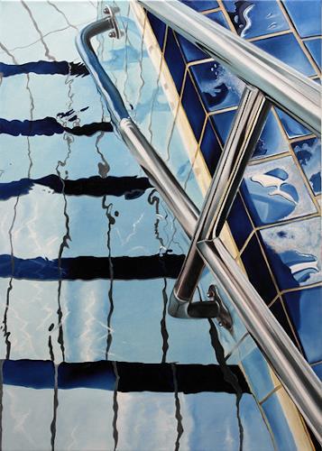 Alex Krull, o.T. (Eingang), Natur: Wasser, Sport, Realismus, Expressionismus