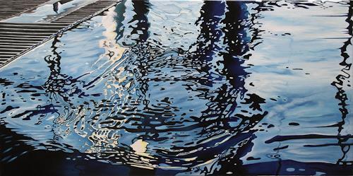 Alex Krull, o.T. (Wasser), Sport, Natur: Wasser, Realismus, Expressionismus