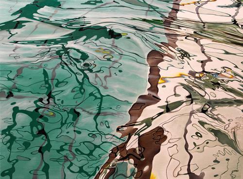 Alex Krull, o.T. (gruen), Sport, Natur: Wasser, Realismus