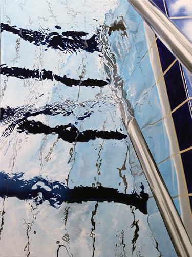 Alex Krull, o.T. (Stufen 2), Sport, Natur: Wasser, Realismus