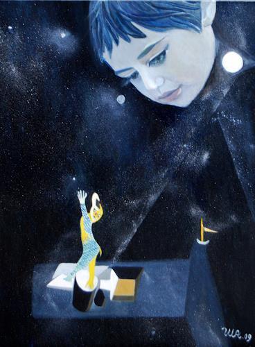 Ulla Wobst, Traumtheater-Dreamtheatre, Menschen: Kinder, Neue Figurative Malerei
