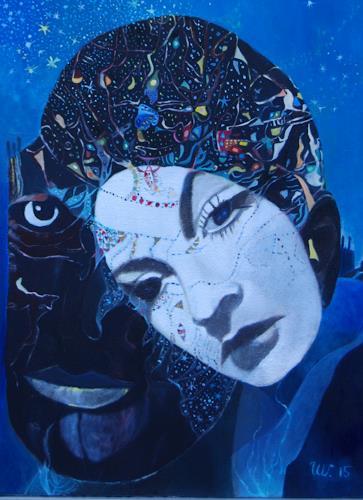Ulla Wobst, MIRACULOUS MEETING / WUNDERBARE BEGEGNUNG, Menschen: Paare, Gefühle: Liebe, Neue Figurative Malerei, Expressionismus