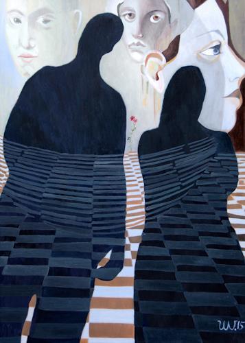 Ulla Wobst, SHADOWS ROSES SHADOWS, Poesie, Weltraum, Symbolismus, Abstrakter Expressionismus