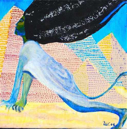 Ulla Wobst, BIRTH OF THE SPHINX, Mythologie, Diverses, Symbolismus, Abstrakter Expressionismus