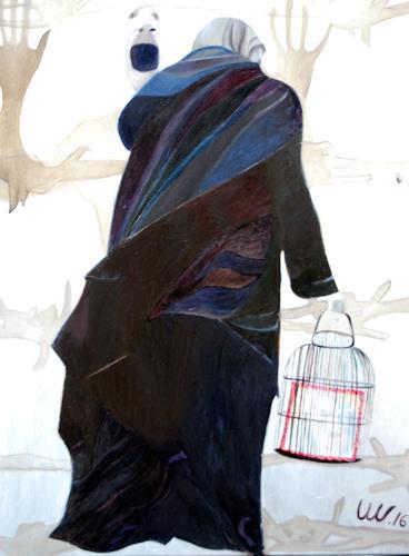 Ulla Wobst, BARRIERS, Gefühle, Menschen: Gruppe, Neue Figurative Malerei, Abstrakter Expressionismus