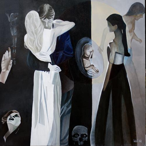 Ulla Wobst, Die Musik des Lebens, Menschen: Gruppe, Diverse Musik, Neue Figurative Malerei, Expressionismus