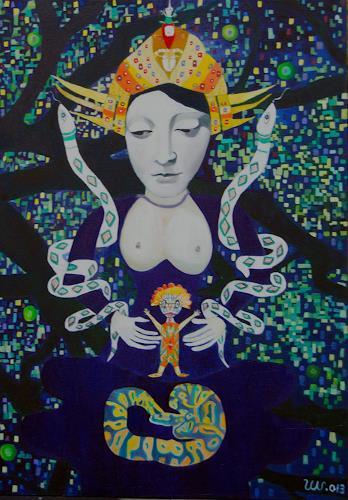 Ulla Wobst, Goddess of the Snakes, Mythologie, Tiere: Land, Gegenwartskunst
