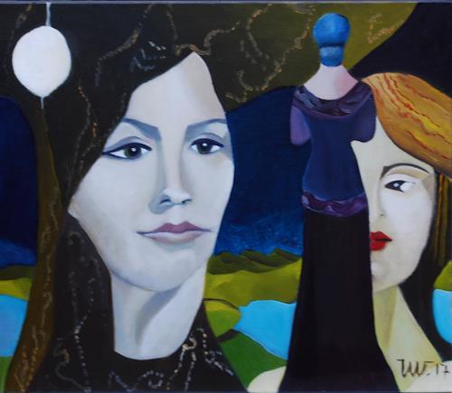 Ulla Wobst, INFINITE REALITY, Fantasie, Menschen, New Image Painting
