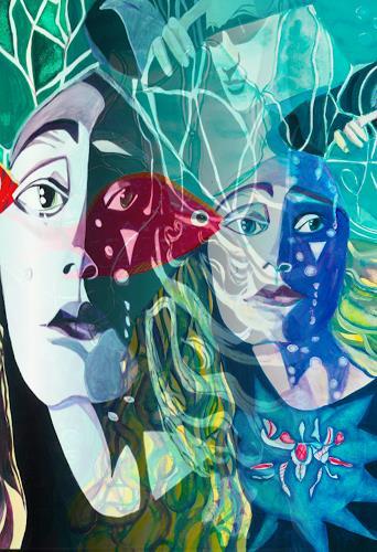 Ulla Wobst, UNDINE, Märchen, Symbol, Neue Figurative Malerei, Abstrakter Expressionismus
