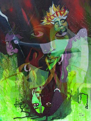 Ulla Wobst, THE LION SLEEPS TONIGHT, Diverses, Fantasie, Postsurrealismus